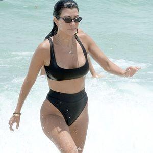 Naked Wardrobe black 2 piece high waist bikini